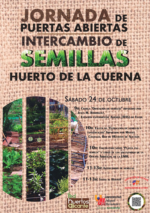 Intercambio de semillas huerto de la cuerna 171 for Oficina ambiental umh