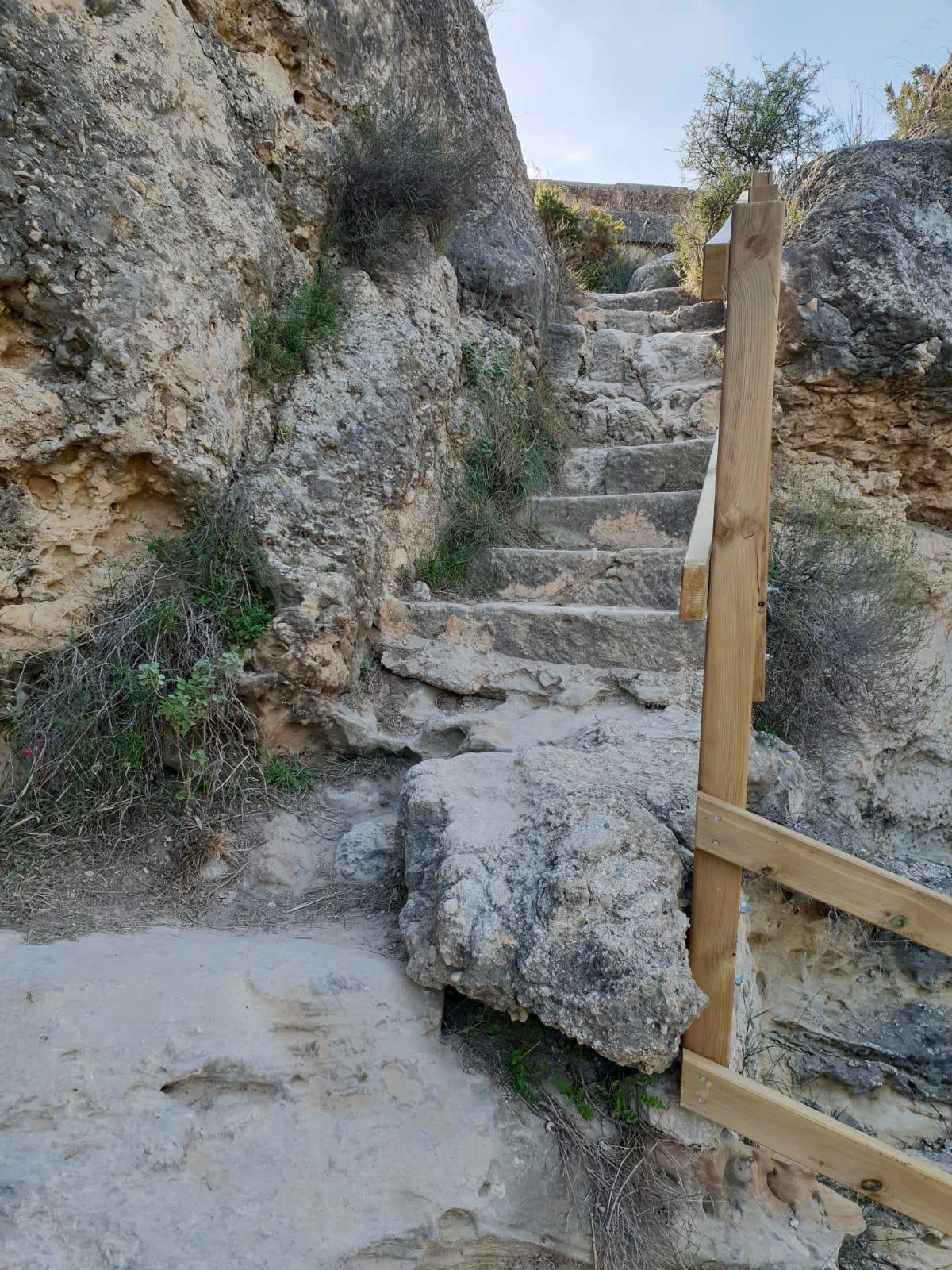 escaleras Pantano